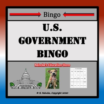 U.S. Government Bingo (30 pre-made cards!)