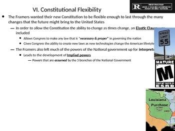 U.S. Government: Checks & Balances and Flexibility