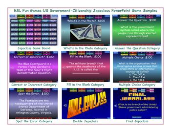 US Government-Citizenship Jeopardy PowerPoint Game