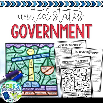 Social Studies United States Government Color by Number Worksheet