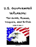 US Government Influences: Roman, Greek, Iroquois, and British