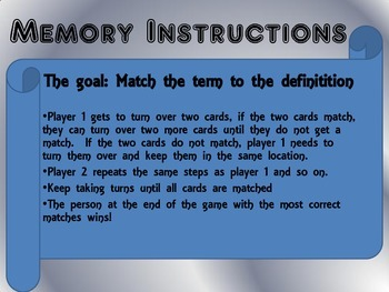 US Government Memory Game