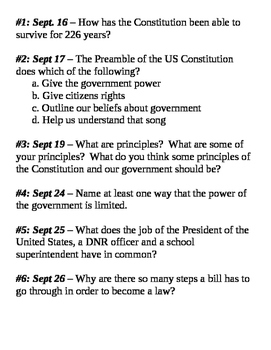 US Government - Notebook entries and discussion starters