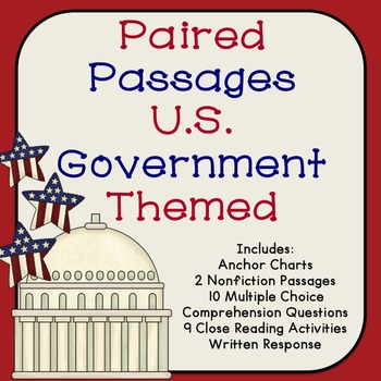 US Government Paired Passages {Branches and Levels}