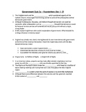 US Government Quiz 2a - Foundations