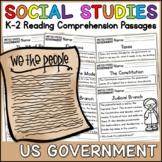 US Government Reading Comprehension Passages (K-2) - Social Studies