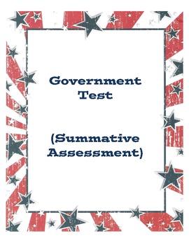 U.S. Government Test (Summative Assessment)