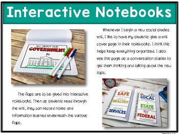 All About Our Government {Unit includes: passages, flap books, & assessment}