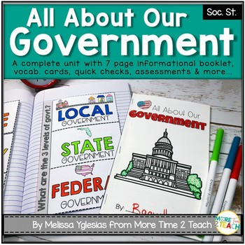 All About Our Government {Unit includes: passages, flap bo