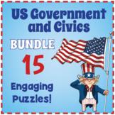US Government and Civics Puzzle Bundle