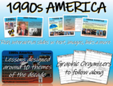 US HISTORY -1990s America - visual, textual, engaging 45-slide PPT