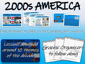 US HISTORY -2000s America - visual, textual, engaging 45-slide PPT