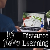 US HISTORY DISTANCE LEARNING FOR GOOGLE DRIVE