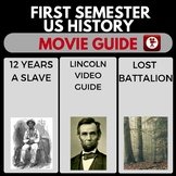 US HISTORY MOVIE GUIDES FIRST SEMESTER VIDEO GUIDES