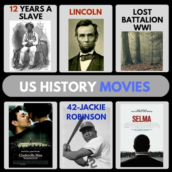 US HISTORY MOVIE GUIDES FULL YEAR VIDEO GUIDES