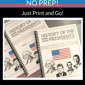 US HISTORY PRESIDENTS INTERACTIVE NOTEBOOK WEBQUEST RESEARCH GOVERNMENT NO PREP