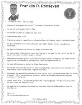 US HISTORY SUB PLANS Presidents Facts, Word Searches & Coloring Pages BUNDLE #4