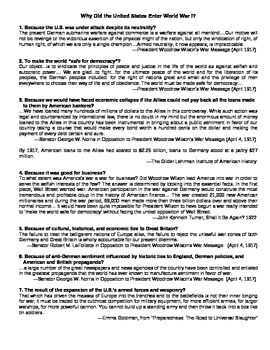 U.S. HISTORY UNIT 9 LESSON 2: The Outbreak of World War I GUIDED NOTES