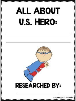 U.S. Heroes Research Packet (Common Core Aligned)
