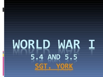 US Hist SC 5.4-5.5 Common Core Ready World War I/Fourteen Points