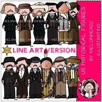 US Historical figures by Melonheadz LINE ART