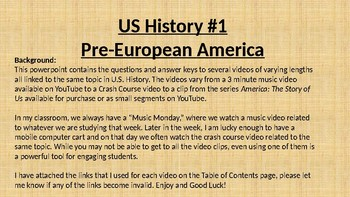 US History #1 Video clips - Pre-European America