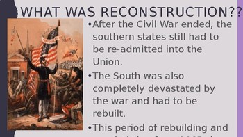 US History: 1865-1914 power point presentation