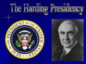 U.S. History: 1920s - Politics and Industry (Harding and Coolidge)