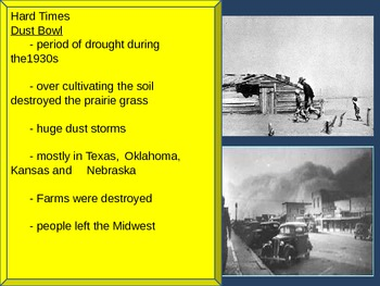 US History 1930s Culture of the Great Depression