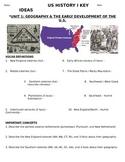 U.S. - Study Guide - Units 1-20/37 - 11th grade