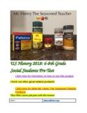US History 2018 Middle School Social Studies Pre-Test