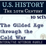 US History Interactive Notebook Organizers 10 Sets! Gilded