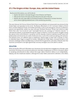 US History - 27 - War World 2