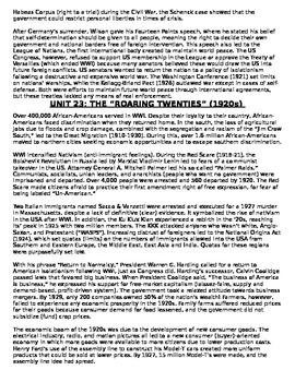 US History 11th grade (2nd Sem) Reading Guide Units 21-37 - REGENTS ALIGNED