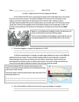 US History: The Fugitive Slave Act and the Underground Railroad