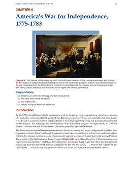 US History - 6 - Americas War for Independence