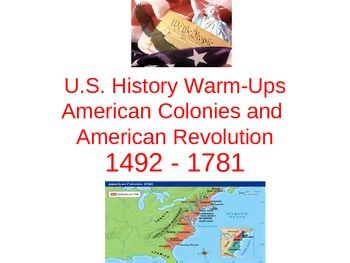 61 American Colonies and American Revolution Bell Ringers