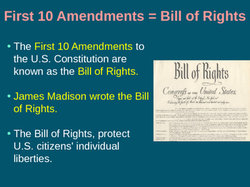 US History 8 Bill of Rights PowerPoint