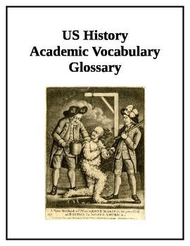 11th Grade US History Academic Vocabulary Glossary