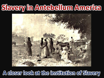 Age of Jackson Slavery in Antebellum America PowerPoint (U.S. History)