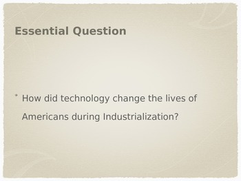 US History - Agrarian to Urban Society PPT