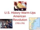 American Revolution Bellringers: US History