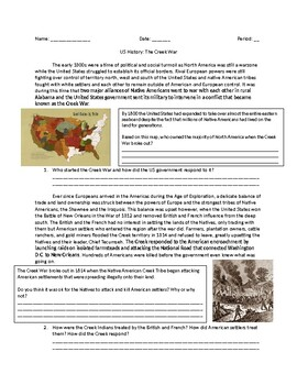 US History: Andrew Jackson and The Creek War