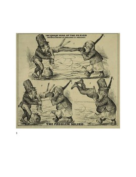 US History Anti Immigration Political Cartoon Activity