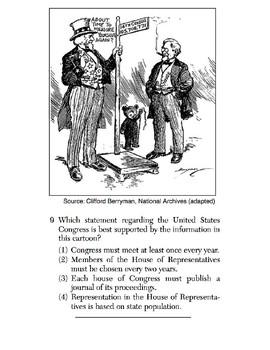 US History - Artifact / Political Cartoon Skills Quiz 1 of 6 (Units 1-20)