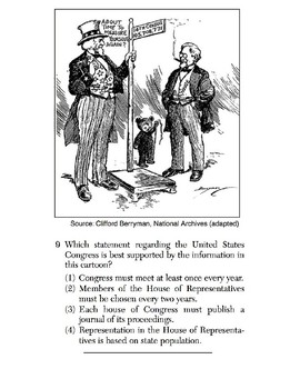 U.S. History - 11th Grade - Skills Quiz - Primary Source Images (1/6)