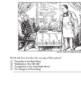U.S. History - 11th Grade - Skills Quiz - Primary Source Images (2/6)