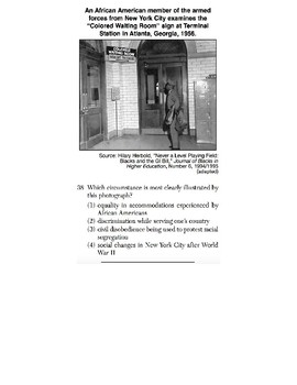 U.S. History - 11th Grade - Skills Quiz - Primary Source Images (4/6)