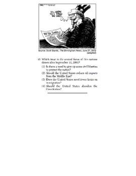 US History - Artifact / Political Cartoon Skills Quiz 6 of 6 (Units 35-37)