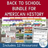 US History Back to School Bundle